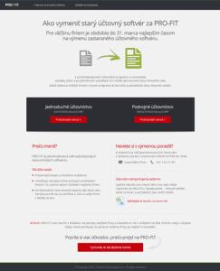 Ako vymeniť starý účtovný softvér za PRO-FIT