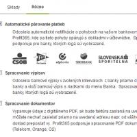 Automatické párovanie platieb a import bankových výpisov