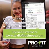 Podporte PRO-FIT v súťaži o najlepšiu biznis aplikáciu